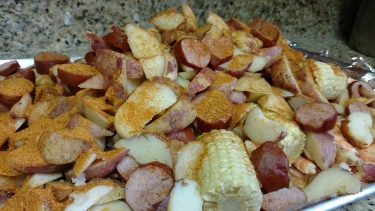 The Crab Shack's Low Country boil, cooked at home thanks to LoCo To Go!  Seafood shipped nationwide  www.locotogo.net