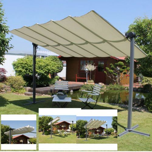 Outdoor-Canopy-Tent-Sun-Shade-Gazebo-Patio-Garden-Adjustable-Aluminium-Parasol