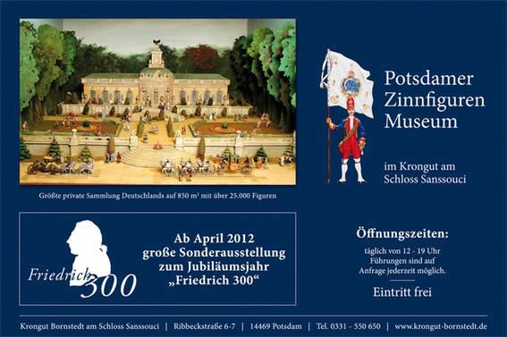 Sonderausstellung Potsdamer Zinnfiguren Museum im Krongut Bornstedt
