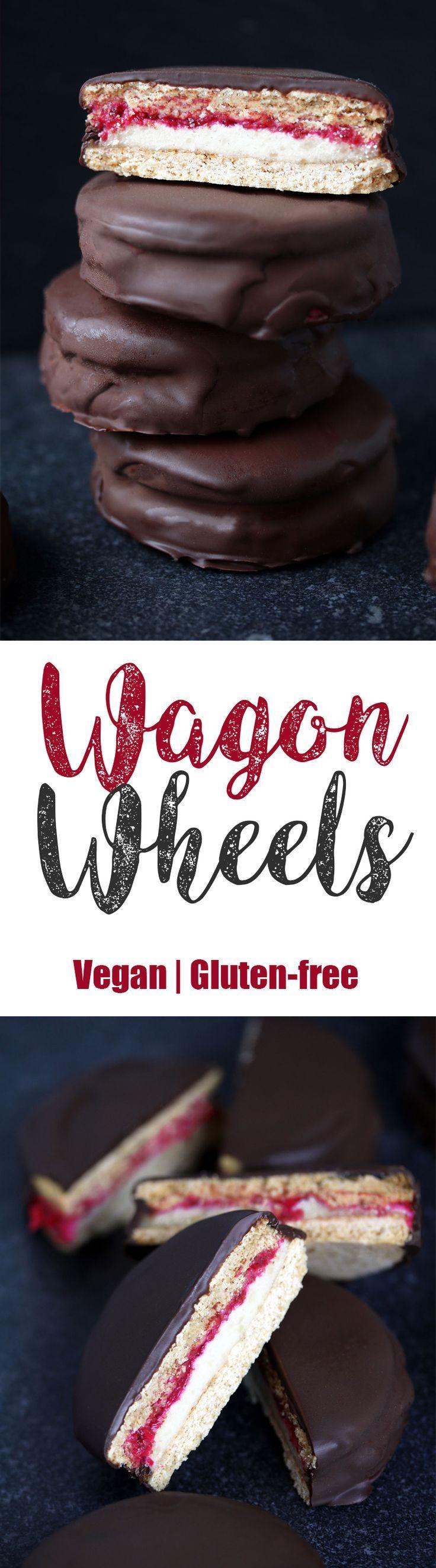 Vegan Gluten-free Wagon Wheels #healthy #vegan #glutenfree #wagon #wheels #vegetarian #homemade #marshmallow #wagonwheels #biscuits #cookies #chocolate #chiajam #jam #british #classic #cashewcream #cashew #cream #oatflour #oats #coconutcream