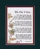 """The One I Love"" A Sentimental Gift For A Wife, Husband, Girlfriend Or Boyfriend."