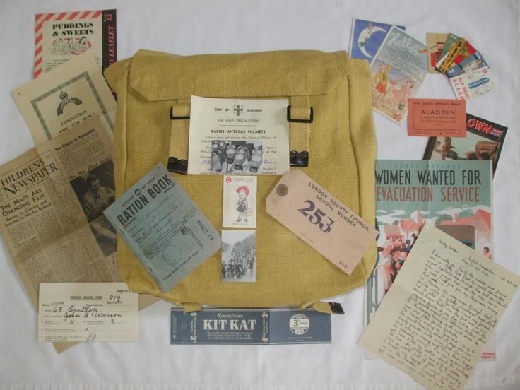 1940 EVACUEE MUSTARD BACKPACK & CHILDRENS WAR TIME PACK