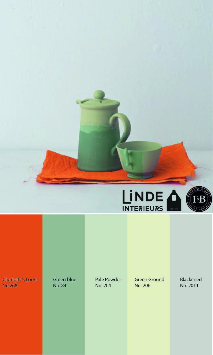 De kleurcollage van vandaag bevat weer mooie Farrow & Ball kleuren die u bij ons in de winkel kunt verkrijgen. Bent u geïnteresseerd of wilt u zien wat wij nog meer verkopen? Kom dan snel een keer langs bij ons in de winkel op de Dorpsstraat 26 in Nieuwerkerk a/d IJssel. -Linde Interieurs