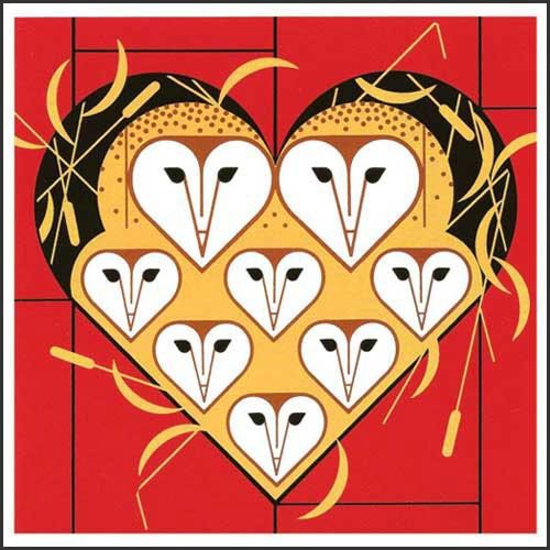 Charley Harper - Vowlentine.  This serigraph is going for $200 now!