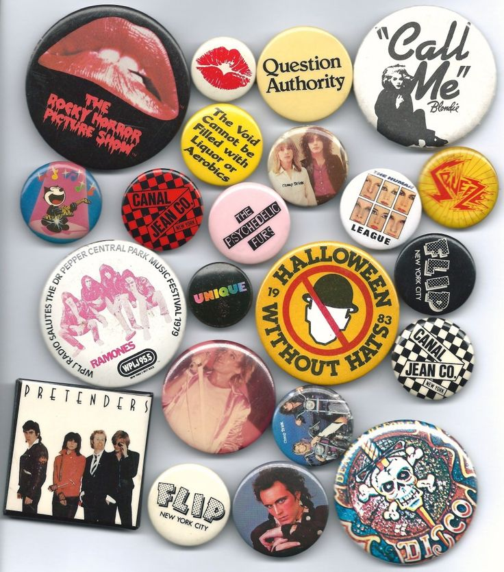 Buttons---lots of them---were the trend for bags, lapels, etc in the early 1980s. I still collect them.  :)