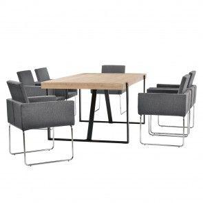 [en.casa] Set mobili sala da pranzo con tavolo e 4 o 6 sedie 664,30 €