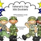 FREE Veteran's Day Mini-booklet can be used to teach your primary students about Veteran's Day.   Directions for assembly are included. #VeteransDay www.operationwearehere.com/veteransday.html