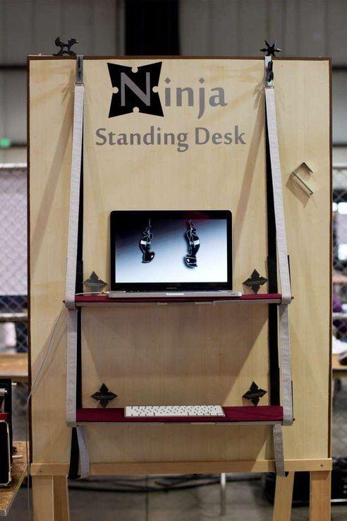 maker faire the ninja standing desk