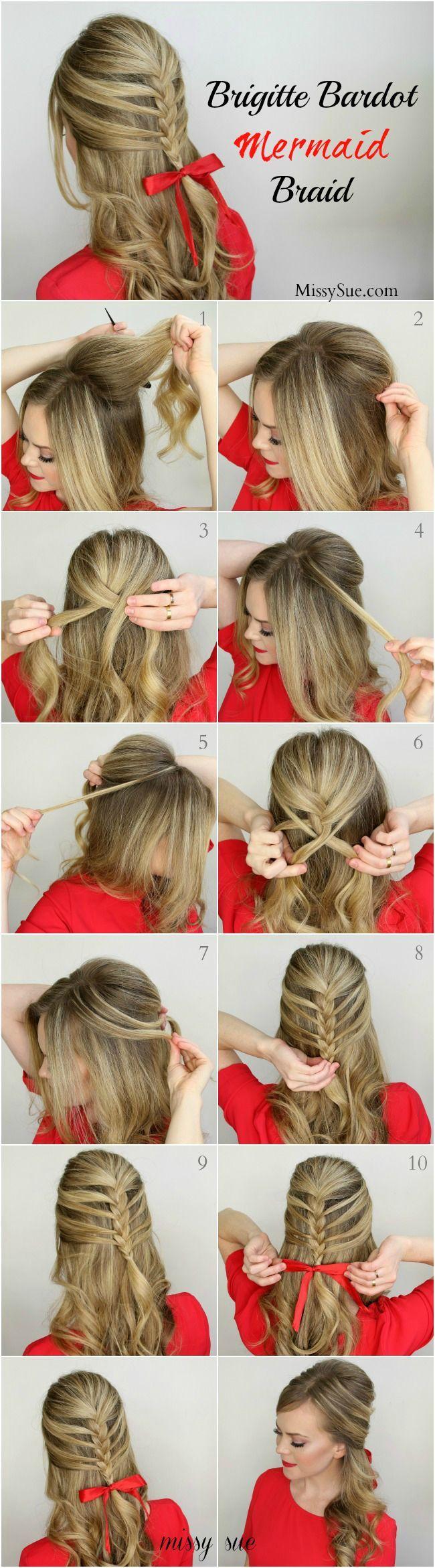 BRIGITTE BARDOT MERMAID BRAID   12 Braided Hairstyles You Should Try To Do   http://www.jexshop.com/