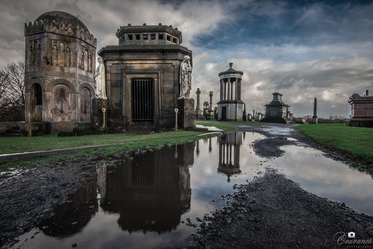 Necropolis in Glasgow city (Scotland UK).