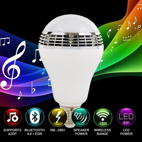 Smart Color LED & Bluetooth Speaker Light Bulb With Mobile App Control