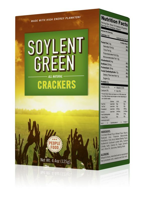 Soylent green collectable crackers food packaging for Soylent green