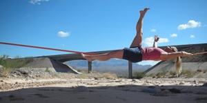 relax, yoga slacklining-- my sister and I are SO doing this together