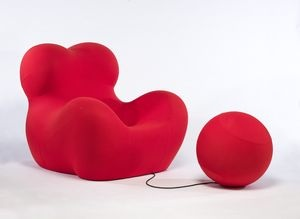 """Designed by Gaetano Pesce (Italian, b. 1939), manufactured by B Italia, S.p.A., """"UP5 chair and UP6 ottoman,"""" 1969; Indianapolis Museum of Art, Gift of Dr. Michael Sze, 2009.646A-B; © Gaetano Pesce.: Design Arts, Gift, Spa"""