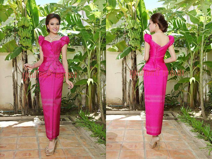 khmer fashsion in pink