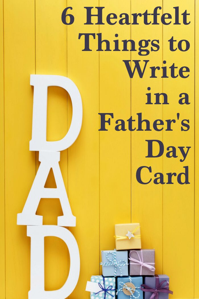 Stumped about what to write in your husbands Fathers Day