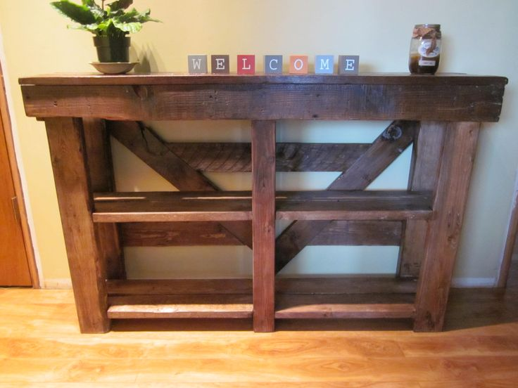 Sofa table made from reclaimed pallet wood pallets for Sofa table made from pallets