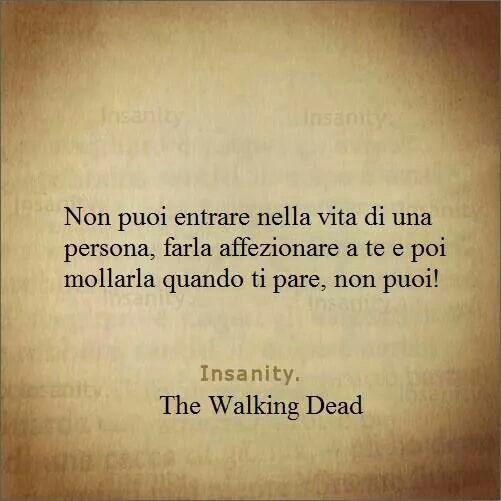 Non entrare nella vita di una persona se sai di non volerci rimanere... il vuoto fa star male...