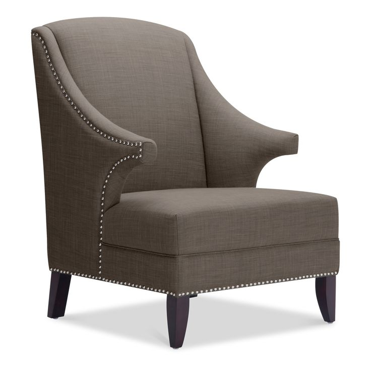 Grey Stud Detail Armchair