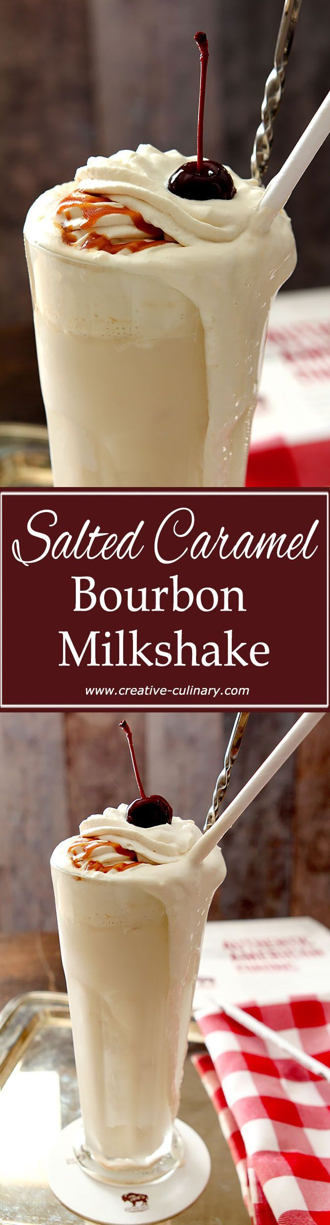 This Salted Caramel Bourbon Milkshake is a specialty at Ted's Montana Grill….