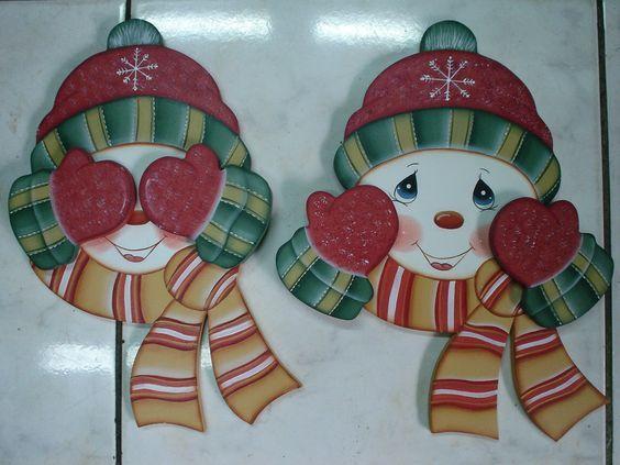 Resultado de imagen para pinterest individuales navideños en madera pintura country