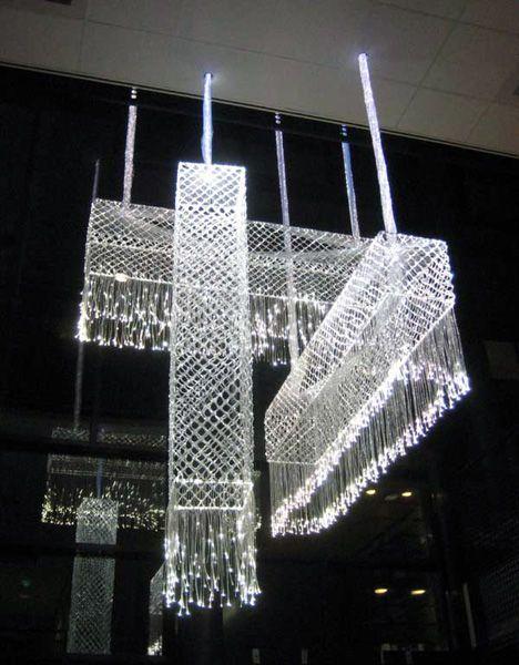 Hanging Fibreglass Lace Lamp