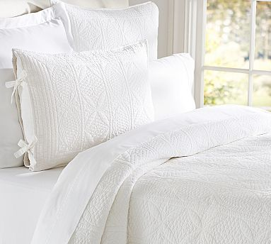 17 Best Images About White Quilted Pillow Shams On