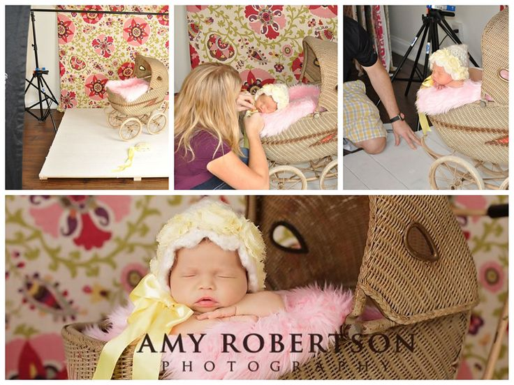 Behind the scenes newborn photography pullbacks