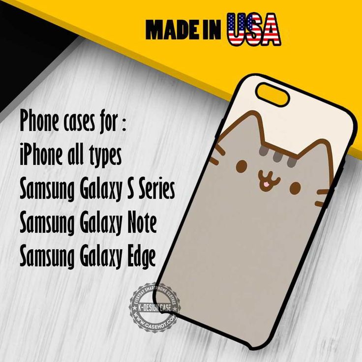 Pusheen Cat Cute iPhone 7 7  6s 6 SE Cases Samsung Galaxy S7 edge S6 S5  NOTE 7 5 4 3