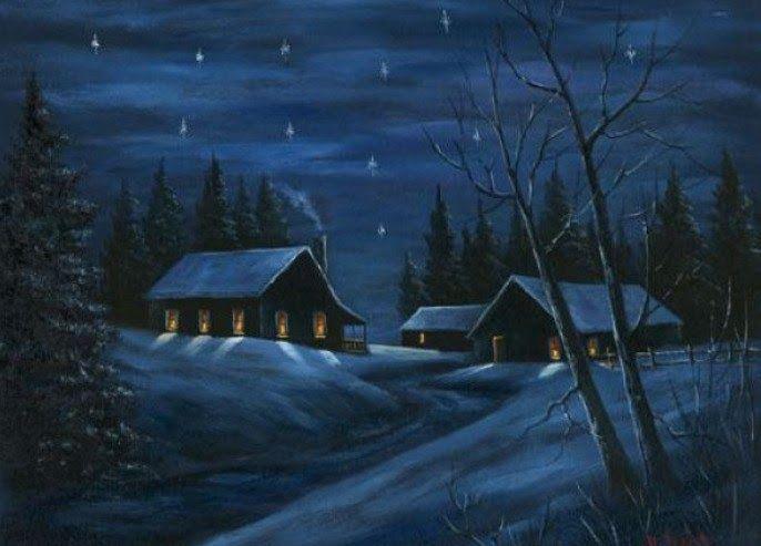 21 Lukisan Kanvas Pemandangan Malam Lukisan Rumah Kampung Hitam Putih Cikimm Com Download Gambar Pemandangan Pohon Alam Di 2020 Lukisan Rumah Pemandangan Seniman