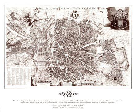 Plano de Madrid . Pedro de Teixeira.