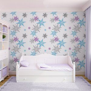 Disney Frozen behang Snowflake