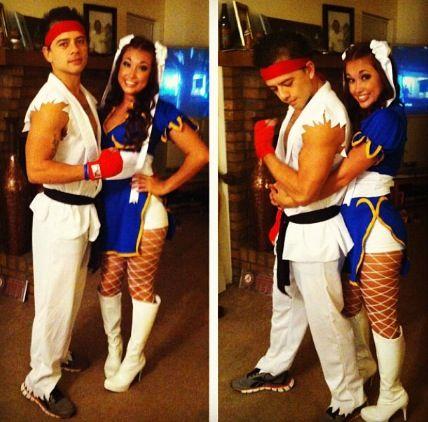 Ryu and chun-li costumes