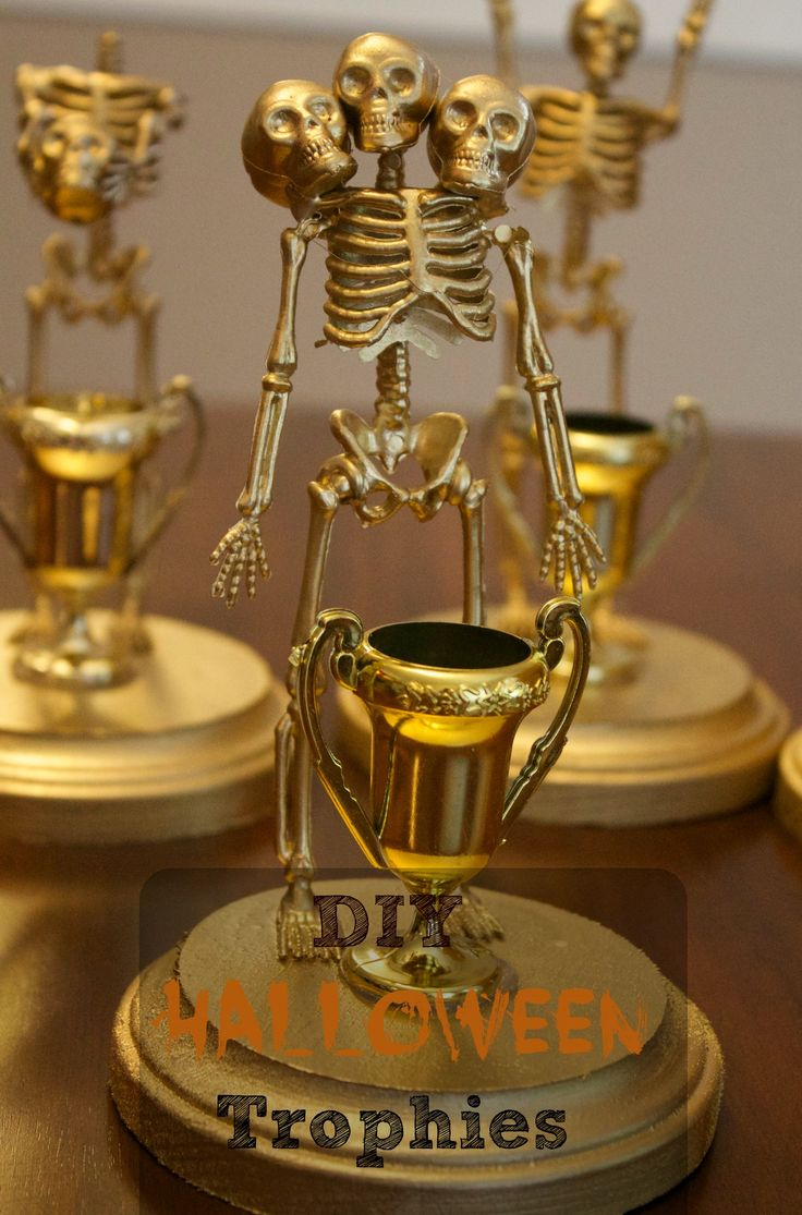 diy halloween costume contest award trophies - Halloween Games For Groups