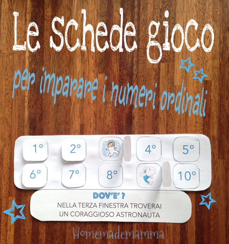 """""""Primo, secondo, terzo!"""": le schede gioco per imparare i numeri ordinali"""