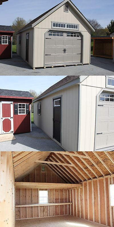 Garden and Storage Sheds 139956: Amish Built 14X28 A-Frame Garden Elite Garage Wood Siding -> BUY IT NOW ONLY: $10050 on eBay!