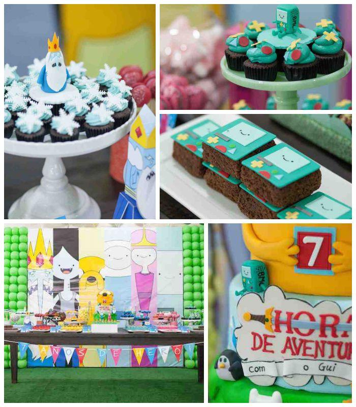 Adventure Time Themed Birthday Party {Decor, Ideas, Planning, Idea}
