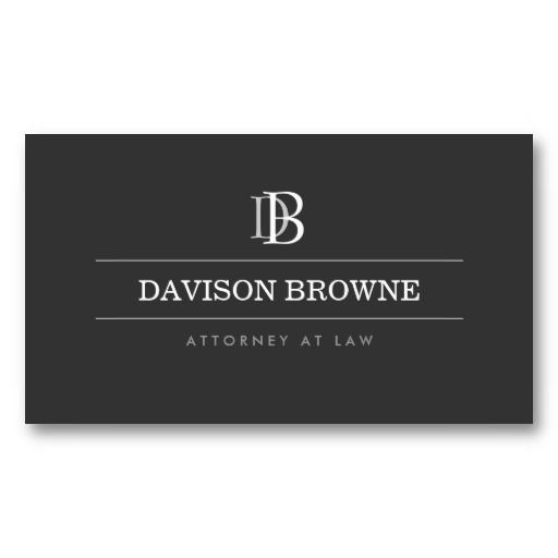 Customizable monogram business card for attorneys, lawyers, or anyone needing a professional visual identity