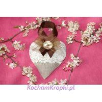 Lawendowe serce dla Mamy II - kochamkropki- kwiat lawendy