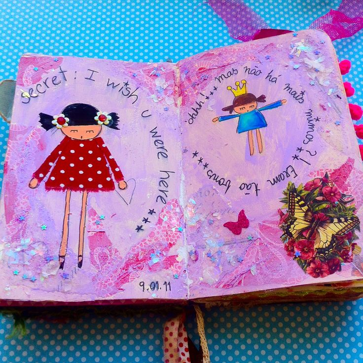 I made these pages some years ago, but only got to post them now;)... Long time ago, when the twins were about 5 years old.. I do miss them like that! Time goes by so quickly - ever realized how it seems accelerated these days?... Gosh.     #art #arts cratfs #love magic #mixed media
