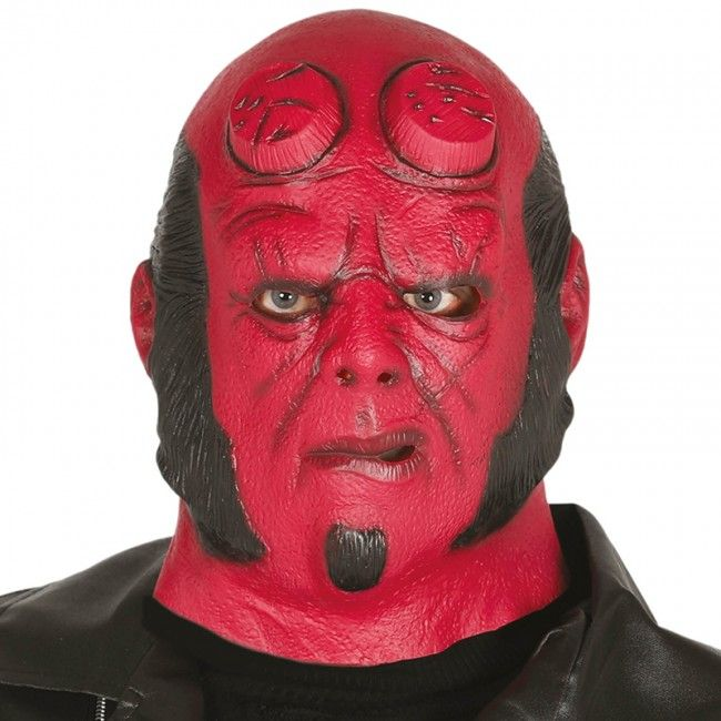 Máscara Hellboy de Látex #máscaras #antifaces