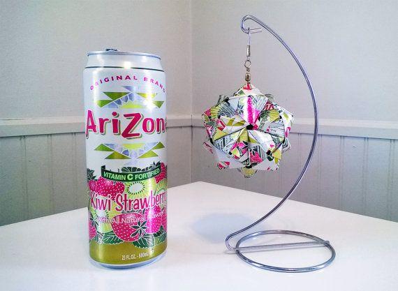 Drink Can Origami  AriZona Kiwi Strawberry   Upcycled by goraygami, $20.00