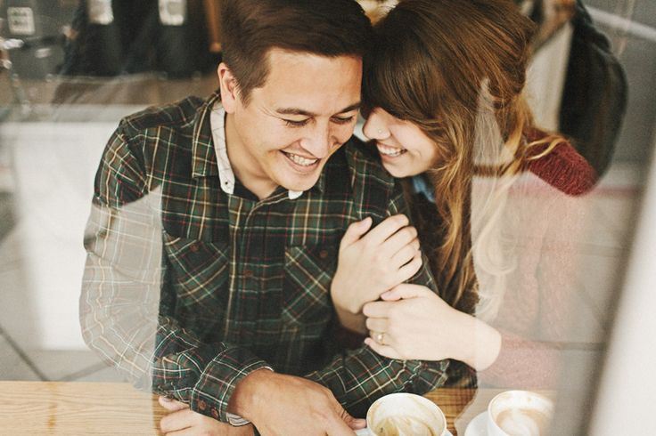 Ryan & Jessie LA coffee shop engagement