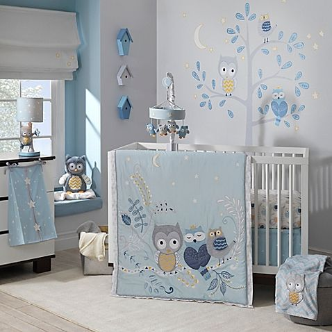 Lambs & Ivy® Night Owl 4-Piece Crib Bedding Set - BedBathandBeyond.com