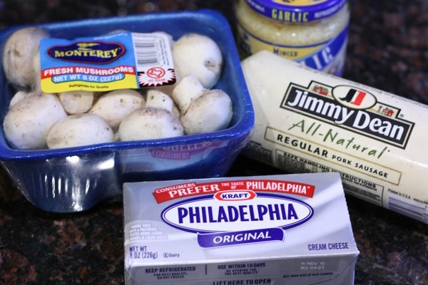 **Sausage and cream cheese stuffed mushrooms. Have been making these for years, a favorite for sure!