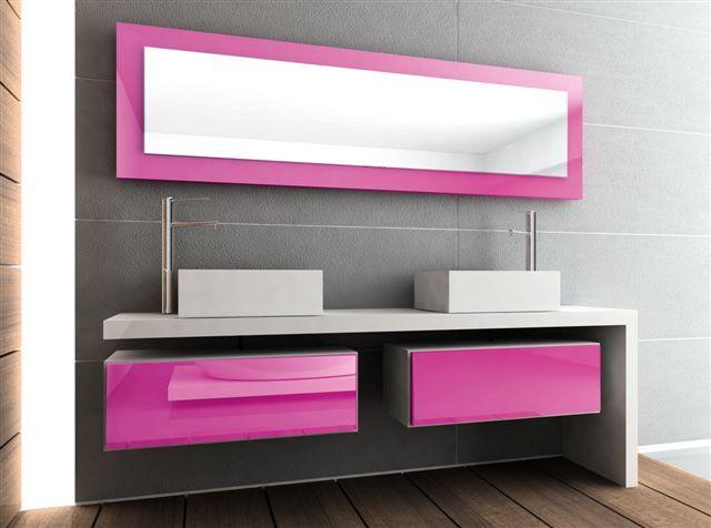 Mueble de baño Luxe rosa