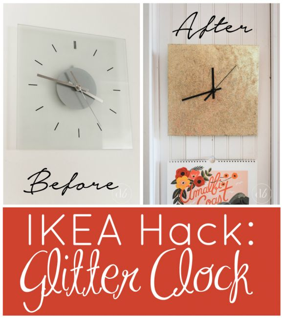 Best 25 ikea clock ideas on pinterest wall clock hanging wall ikea hack glitter clock gumiabroncs Gallery