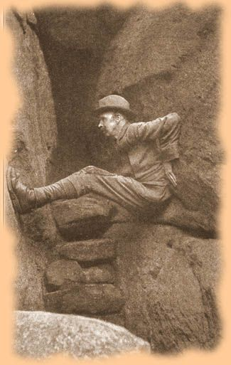 Chimney Bracing - From collection of historic photographs, on website curated by John Gill #climbing