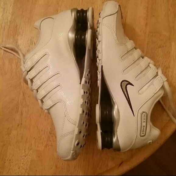 NEW Nike Shox NZ Sz 6.5 White Purple New Nike Shox NZ Sz 6.5  White with a little purple Only tried on around the house, but didn't fit me ; ( Paid $125 Nike Shoes Athletic Shoes