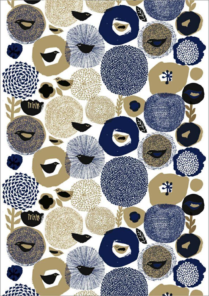 Matti Pikkujamsa, pattern, design, birds, printmaking, texture, mark making, repeat, illustration